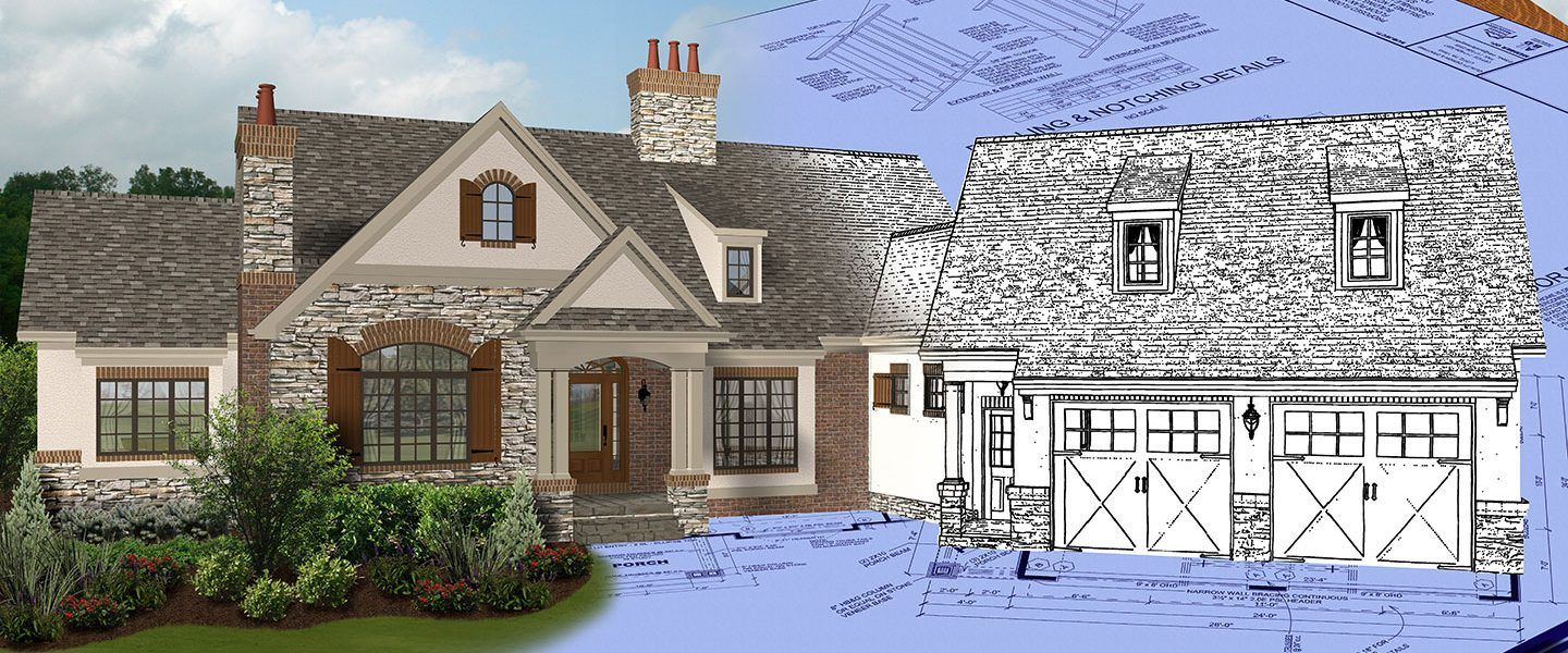 Luxury House and Floor Plans | One Story & Small ... on craftsman bungalow style homes, log cabin siding for homes, half brick half siding homes, 3-story homes,