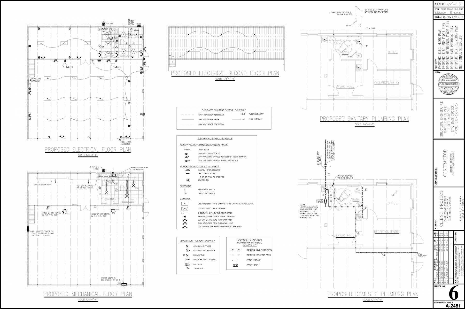 Autocad Outsource Services Drafting Pa Hvac Drawing Review