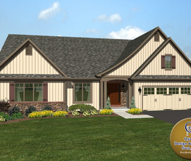 new home design with asphalt roof in lebanon county