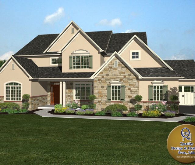 luxury 3d rendered home in delaware