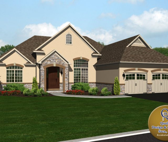 3d rendered custom built home plans