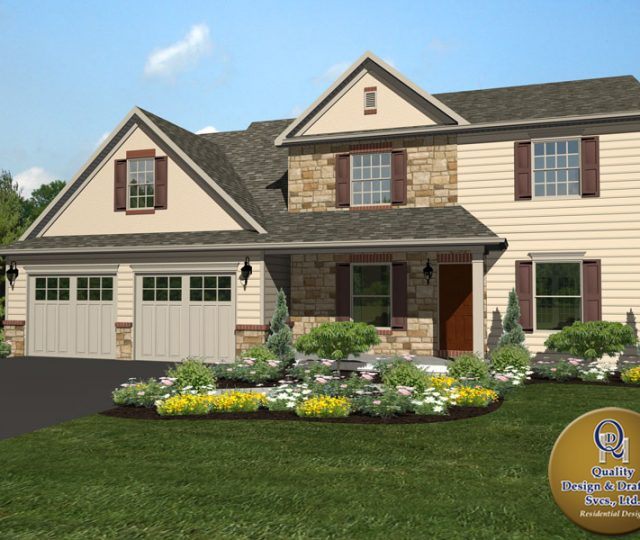 lebanon county new 3d rendered home plan