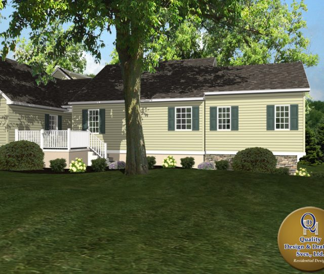 computer rendering of new home addition