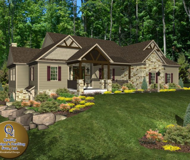 Custom Home Design and Rendering