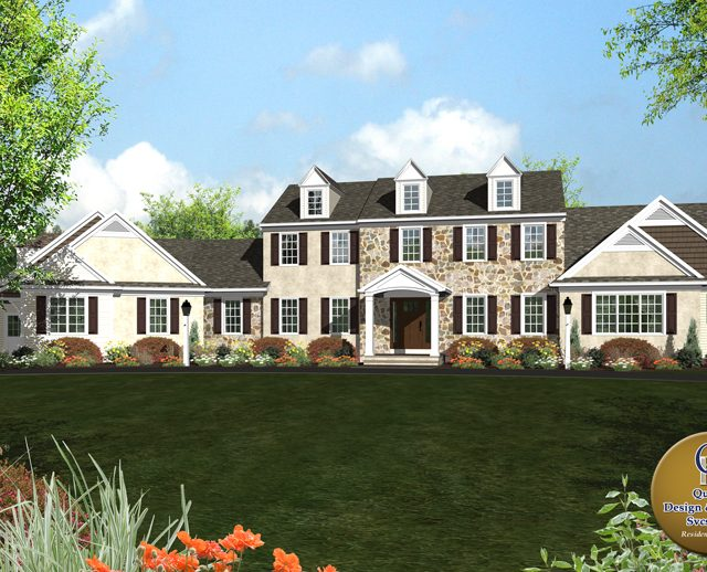 3d rendered photo a large contemporary country estate