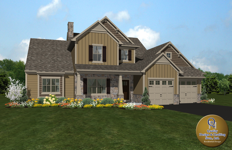 New custom home plan with a two car garage in Adams County