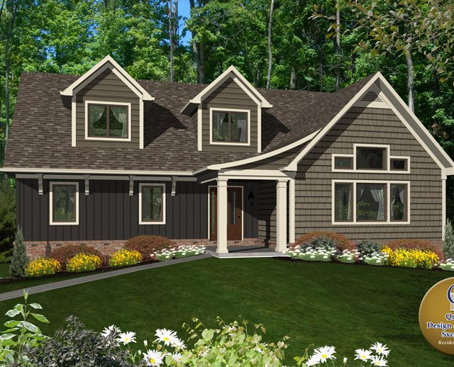 3d image of a large luxury cape cod house design