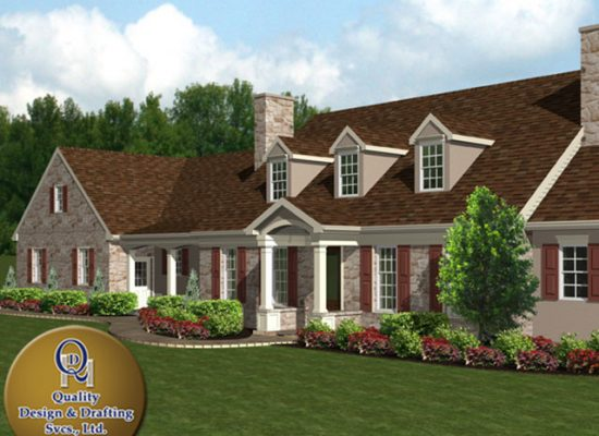 drafting and design company creating 3d renderings